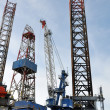 Stock Photo: Offshore production oil rig