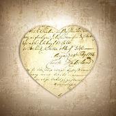 复古的心 — 图库矢量图片