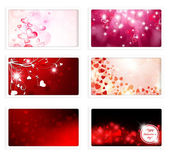 Valentine Day and Wedding Greeting eCards — Stock Vector