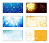 Christmas and New Year eCards — Stock Vector