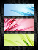 Bright Banner Set — Stock Vector