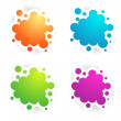 Stock Vector: Different Colors Copyspace Designs