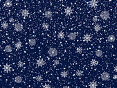 рождественская ночь — Cтоковый вектор