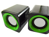 Two audio speakers — Stock Photo