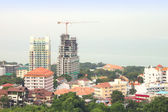 Construction building in local city top scence. — Stock Photo
