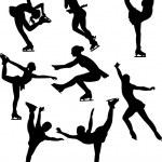 Skating silhouette — Stock Vector