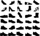 Collection of shoes — Vetor de Stock