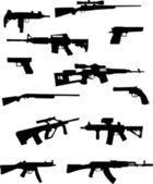 Waffensammlung — Stockvektor