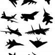 Airplanes silhouette — Stock Vector
