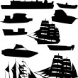Collection of ships — Stock Vector