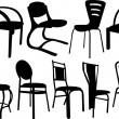 Chairs collection — Stock Vector #41035903