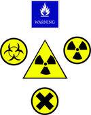 Warning symbol — Stock Vector