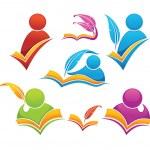 阅读和写作的符号、 书籍和教育 — 图库矢量图片 #15840777