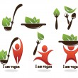 I am vegan - Image vectorielle