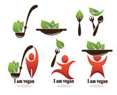 I am vegan — Stock Vector