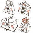 Mail, sale, present and buy funny cartoon icons for your web pag — Stock Vector #21893447