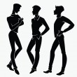 Vector collection of men silhouettes - Stock Vector