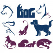 Cats and dogs, my favorite pet, vector collection of animals sym - Image vectorielle