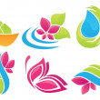 Beauty of nature vector collection of sign, symbols and icons — Imagen vectorial