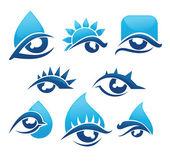 Vektor-Sammlung von Augen und Vision-Icons und Symbole — Stockvektor