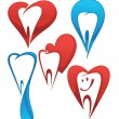 Vector collection of healthy teeth — Stockvektor