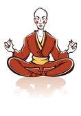 Buddhistický dělat meditace — Stock vektor