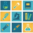 Education and science vector symbols and flat web icons — Vettoriale Stock #37487513