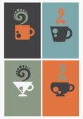 咖啡名片矢量合集 — 图库矢量图片