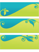 Vector collection of spring eco headers and banners — Vector de stock