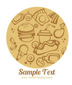 Traditional American fast food, vector background — Vettoriale Stock