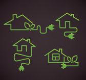 Min smart och eco hem, vektor samling — Stockvektor