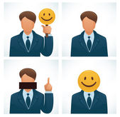 Vector set of humor avatars — Stock Vector
