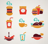 Fastfood images in info-graphic style — Stock Vector