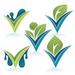 Drop and leaves — Stock Vector