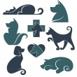 My favorite pet, vector collection of dogs symbols — Stock Vector #49835547