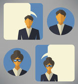 Man and woman business avatars