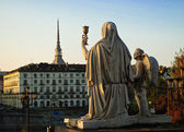 Statue of Faith of Gran Madre di Dio, Turin — Stock Photo