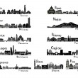 Silhouette signts of 11 cities of Italy — Stock Vector #19588577