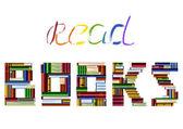 Ler livros — Vetor de Stock