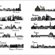 10 cities of Italy - silhouette signts — Stock Vector #33602291