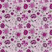 Pattern with violet flowers — Stock Vector