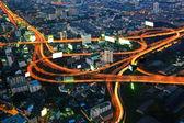 Vue de nuit de la ville bangkok — Photo