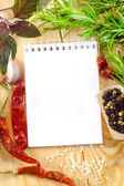 Note for recipe — Stock Photo