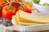 Ingredienti per lasagne — Foto Stock