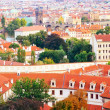Red roofs of Prague — Foto Stock