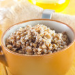 Stock Photo: Buckwheat in a pot