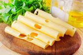Cheese with parsley — Stock Photo