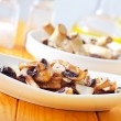 Meat with mushrooms — Stock Photo