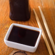 Soy sauce for sushi — Stock Photo