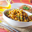 Bowl of chickpeas — Photo